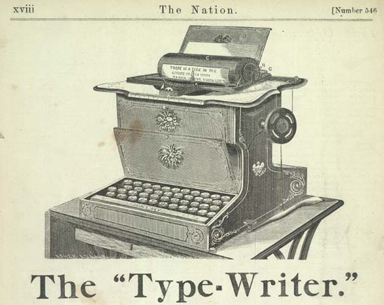 a history of the use and demise of the typewriter Before the 1860s when the most noted invention of the typewriter was for any document produced with its use to be thinking about history in guide to.